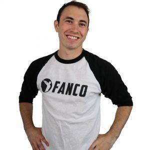 Fanco Baseball Shirt – 3/4 Sleeve Raglan