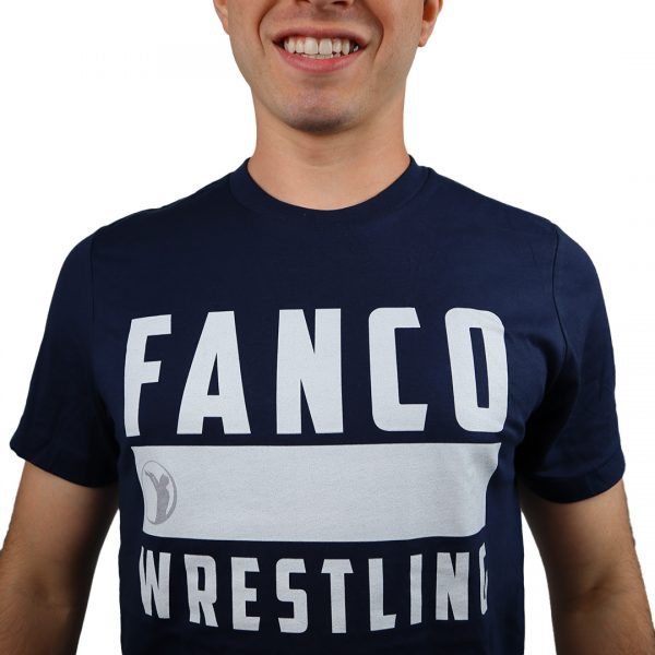we are fanco wrestling tee, close up