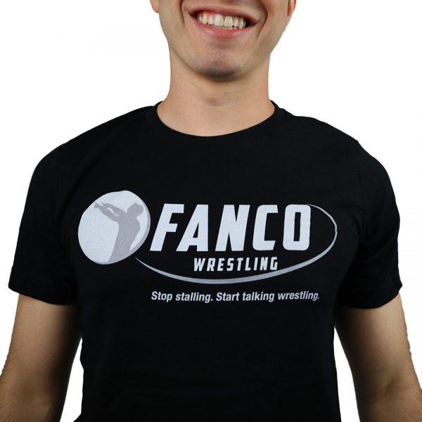 fanco wrestling classic logo short sleeve close up