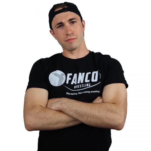black fanco wrestling classic logo t-shirt, black hat
