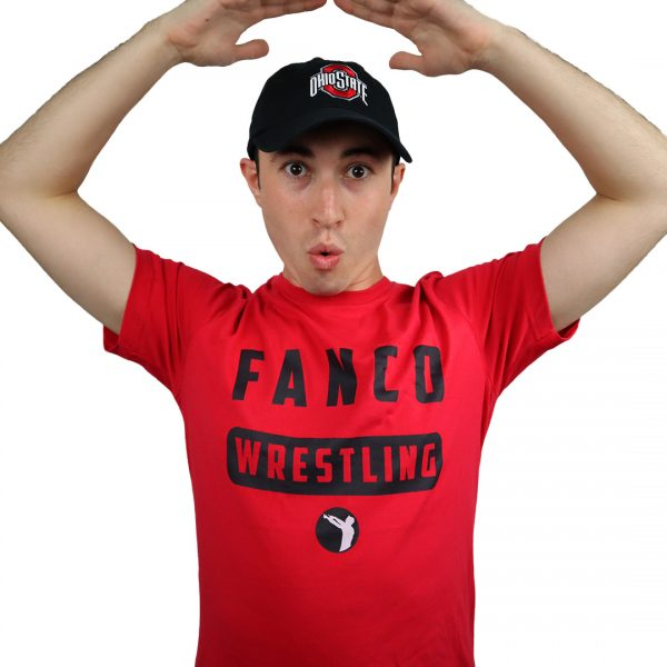 fanco wrestling college collection, tough love tee, ohio state hat