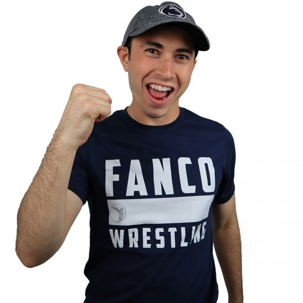 fanco wrestling college collection, blue penn state hat, we are t-shirt