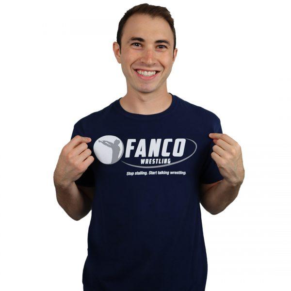 classic fanco wrestling blue shirt