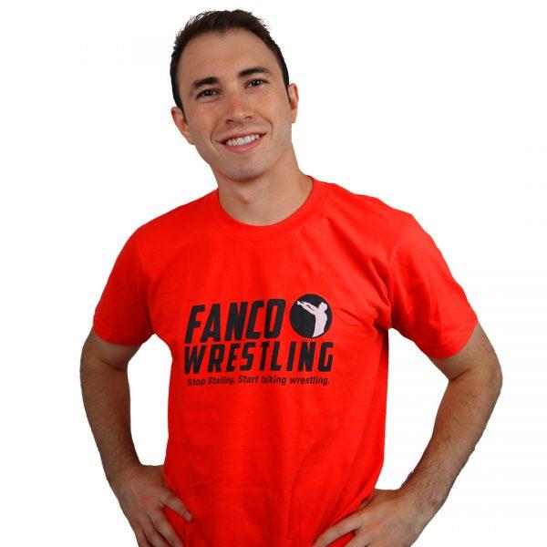 orange fanco fired up t-shirt, short sleeve, wrestling gear