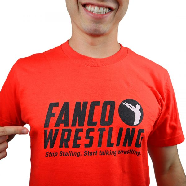 fanco wrestling fired up orange t-shirt