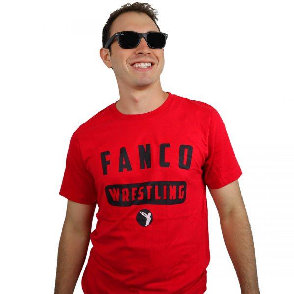 tough love shirt, red fanco wrestling tee, short sleeve, wrestling gear