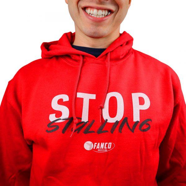 stop stalling fanco wrestling red sweatshirt hoodie